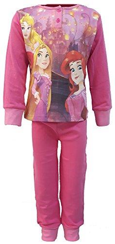 pigiama bambina lungo caldo cotone PRINCIPESSE princess 8466819 disney 100% cotone (4/5 anni, fuxia)