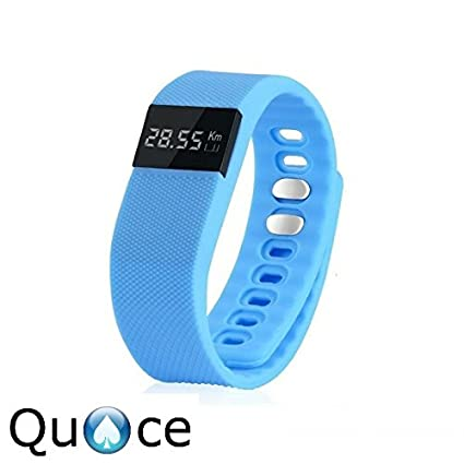 Quace-TW64-OLED-Display-Bluetooth-4.0-Waterproof-Smart-Health-Band-with-Pedometer,-Sleep-Monitoring,-Call-Reminder,-Clock,-Remote-camera,-Anti-lost-Function,-Compatible-with-iOS-and-Android-System