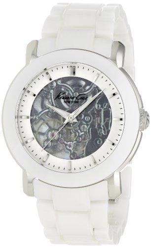 Kenneth Cole Ladies Automatic White Ceramic Bracelet Watch Kc4726