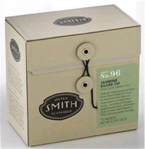 Steven Smith Teamaker - Full Leaf Green Tea Jasmine Silver Tip No. 96 - 15 Tea Bags