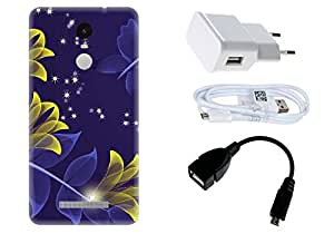 Spygen Xiaomi Mi5 Case Combo of Premium Quality Designer Printed 3D Lightweight Slim Matte Finish Hard Case Back Cover + Charger Adapter + High Speed Data Cable + Premium Quality OTG