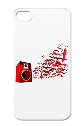 Graffiti Birds Music Vinyl Disc Jockey Music Deejay Speaker Dj Quotdj Shirtquot Djing Djs Quotdisc Jockeyquot Dee Jay Record Dance Turntable Deck Mixing Urban Pop Dj Red For Iphone 4/4S Birds Protective Hard Case
