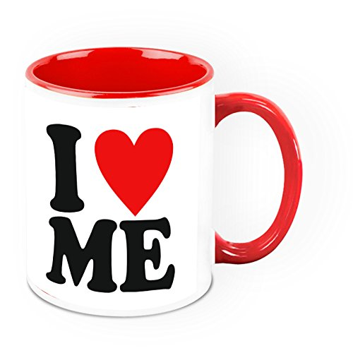 HomeSoGood I Love Being Me Quote White Ceramic Coffee Mug - 325 Ml