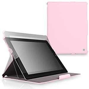 CaseCrown Ace Flip Case for iPad 4th Generation with Retina Display, iPad 3 and iPad 2 - Pink