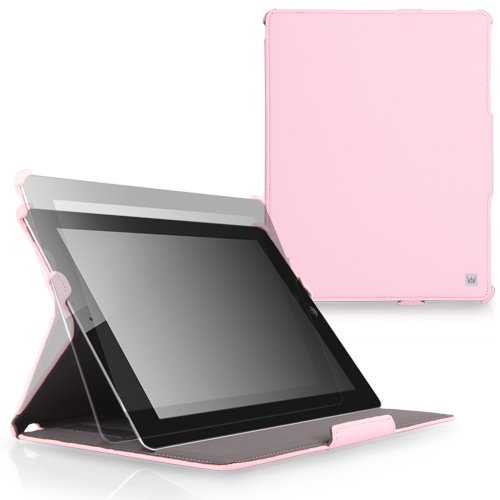 CaseCrown Ace Flip Case (Pink) for iPad 4th Generation with Retina Display, iPad 3 & iPad 2 (Built-in magnet for sleep / wake feature)