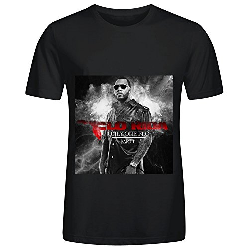Flo Rida Only One Flo Part 1 Soul Album Cover Men Crew Neck Slim Fit Shirt Black (Braun Fan Parts compare prices)