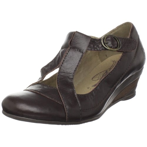 Fly London Women's Boff Special Occasion Heel Leather Dark Brown P141748005 4 UK