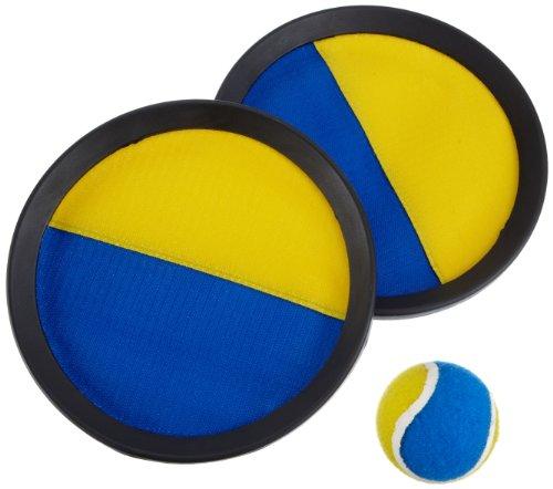 Hudora 76463 - Juego de atrapar la pelota con velcro, color azul y amarillo