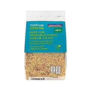 Wholewheat Bulgar, Millet & Rice Waitrose Love Life 250g - Pack of 2