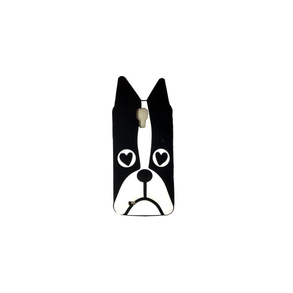 LliVEER Cute Cartoon Animal Dog Soft Silicone Skin Case Cover Compatible for Samsung Galaxy S4 I9500(black)