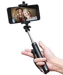 Selfie Stick, Baslo Compact Selfie Stick Extendable Bluetooth Selfie Stick for Mainstream Smart Phones (Black)