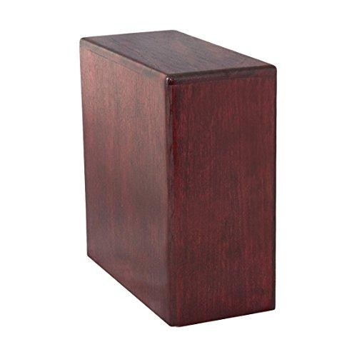 Wood Cremation Urn (Wooden Urns) - Rosewood Bookshelf
