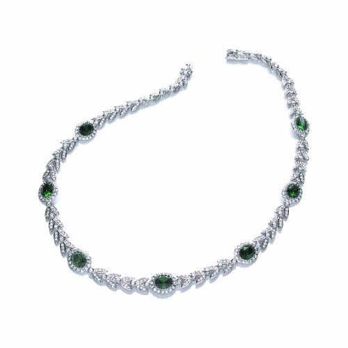 Attwood  &  Sawyer The Ivy Emerald 41cm Necklace