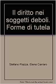 tutela: Elena Carraro Stefano Piazza: 9788871780504: Amazon.com: Books