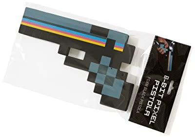 Minecraft Style 8-bit Pixel Foam 10 Toy Gun Black by Minecraft