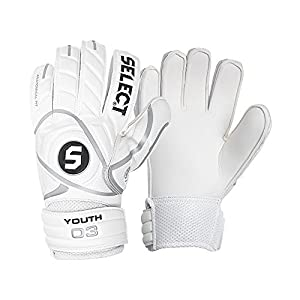 Select Youth Goalie Glove (White, Size 5)