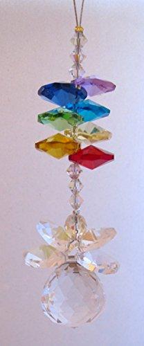 Fairy Godmother Chakra Rainbow - Rainbow Maker - Crystal Suncatcher- Home, Living Room, Bedroom, Kitchen, Car Decoration - Porch Decor - Sun Catcher - Hangings Crystal Glass Ornament - Figurines front-204600