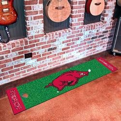 Arkansas Razorbacks Golf Putting Mat (18 in. x 72 in.) Polyester at Amazon.com