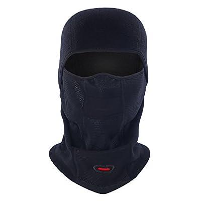 DICKEE Balaclava Ski Mask - Fleece Face Mask Windproof, 4in1 Multifunctional Warmer for Motorcycling, Skiing, Snowboarding & Outdoor Sports Moisture Wicking Head Hood Warm Gear