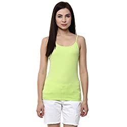 Ajile by Pantaloons Women's Casual Solid Camisole (205000005573160_Lime_ L)