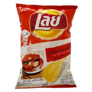 Lays Potato Chips Hot and Spicy Crab Flavour Only in Thailand