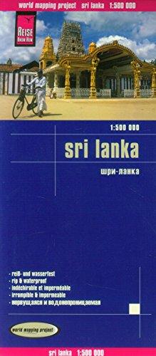 Sri Lanka, mapa de carreteras impermeable. Escala 1:500.000. Reise Know-How.