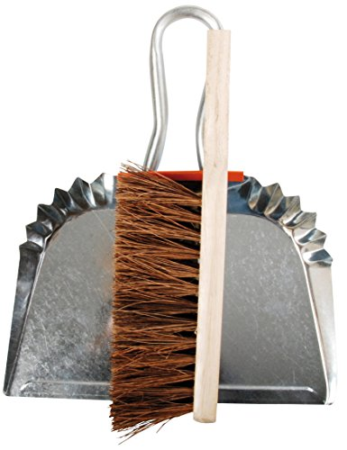 Esschert Design Metal Dustpan with Wood Handle Broom (Metal Dust Pan Broom compare prices)