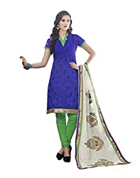 Bhagwati Women's Georgette Embroidered Unstitched Dress Material (saheli3_Blue_Freesize)