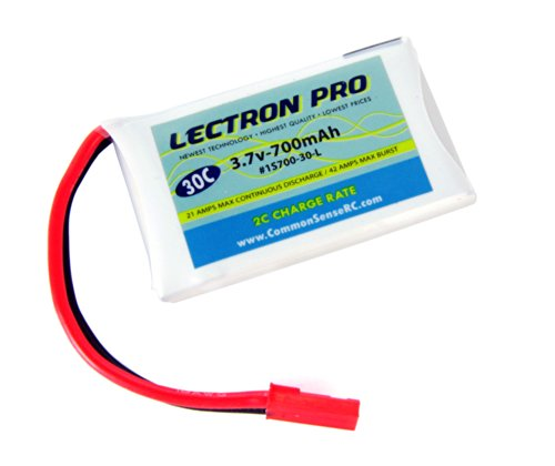 Lectron Pro 3.7 volt - 700mAh 30C Lipo Pack for LaTrax Alias Quadcopter
