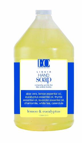 EO Hand Soap, Refill Size, Lemon & Eucalyptus, 32-Ounce Bottles (Pack of 2)
