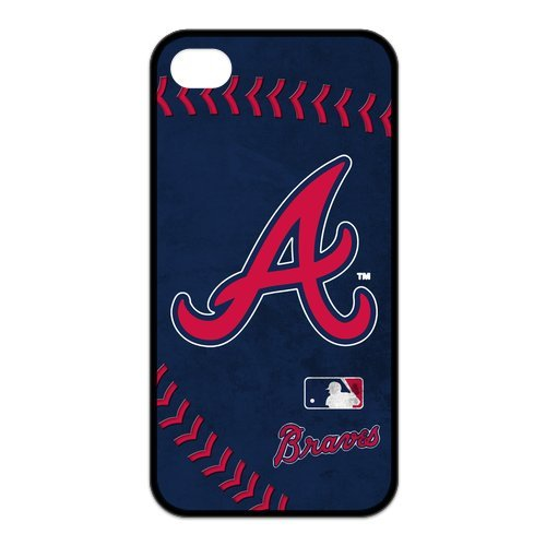 Superstar Team MLB Atlanta Braves HD Image Iphone 4 4s TPU Silicone Protector Case Snap On Cover Fits Sprint at Amazon.com