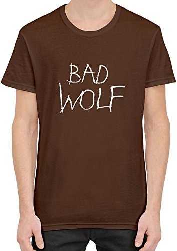 Bad Wolf Doctor Who T-Shirt per Uomini Medium