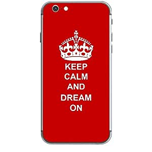 Skin4gadgets Keep Calm and DREAM ON - Colour - Red Phone Skin for APPLE IPHONE 6 PLUS