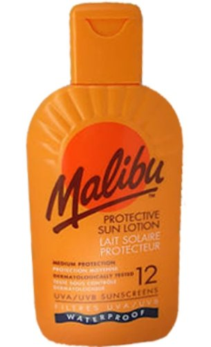 Malibu Protective Sun Lotion SPF12 Waterproof Medium Protection 200 ml