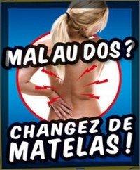 Matelas Mémoire de forme 90x190x21cm - idéal contre les douleurs dorsales (90x190)