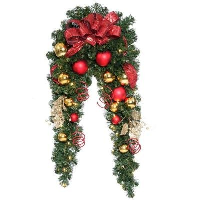 6 ft. Decorative Collection Artificial Mantle Garland with 50 Clear Lights (White Led Fireplace compare prices)