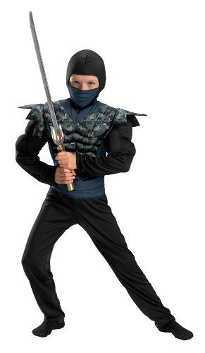 Disguise Shadow Ninjas Night Fury Night Camo Ninja Classic Muscle Boys Costume, 4-6 front-594576