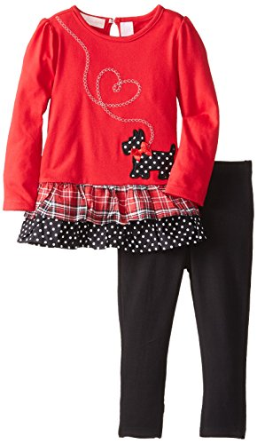 Kids Headquarters Little Girls' Two-Piece Dog Top with Legging Set