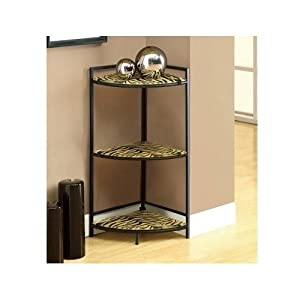 Small Corner Accent Table Animal Print Decorative Tiger Glass Kitchen Dining