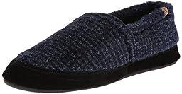 ACORN Men\'s MOC Slip-On Loafer, Blue Check, Large/10.5-11.5 M US