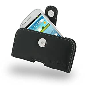 Samsung GalaxyS3 SIII Mini Leather Case - GT-i8190 - Horizontal Pouch Type (Black) by Pdair