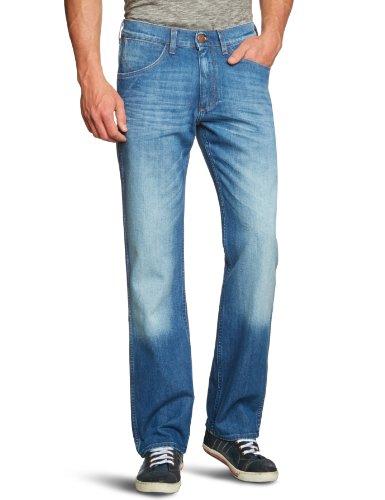 Wrangler Herren Jeans Normaler Bund W14ZQE38K, Gr. 40/34 (40/34), Blau (HOLEY MOLE 38K)