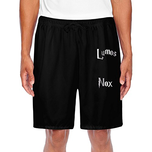 Men's Lumos Nox Inspired Platinum Style Shorts Gym Black (Nox Running Lights compare prices)