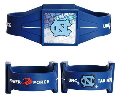 NCAA North Carolina Tar Heels (UNC) Navy Blue Power Force Silicone Wristband at Amazon.com