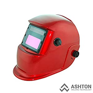 Commercial 115v Mig 130 135 Amp Automatic Feed Flux Core Gasless Welder Mig-135aw Red Helmet AWT-F3 Kit by ASHTON WELDING TECHNOLOGY