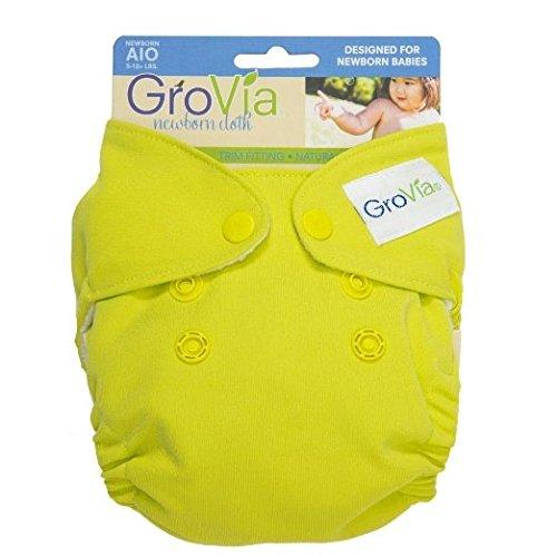 Grovia Organic Cotton Newborn All In One (AIO) Diaper - New Style - Citrus