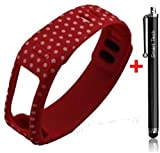 Smart Tech Store Red Polka Dots Replacement Band With Clasp for Garmin Vivofit Only /No tracker/ Wireless Activity Bracelet Sport Wrist band Garmin Vivo fit Bracelet Sport Arm Band Armband