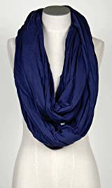 Tencil Circular Scarf Navy