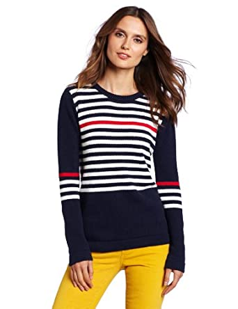 QSW Women's Sea Crew Sweater, Ink, Small