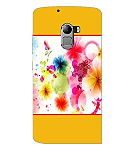 PrintDhaba Colored Flowers D-1429 Back Case Cover for LENOVO VIBE X3 LITE (Multi-Coloured)